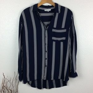 Beachlunchlounge Striped Button Up Top